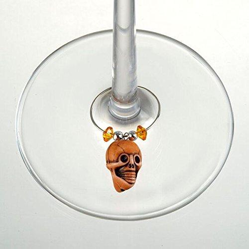 Prodyne W-7-S Skull Wine Charm Set, Set of 6, Multicolor