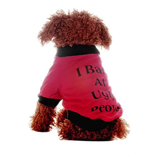 [DEESEE(TM) Hot Pets Dogs Letter Printed Jumpsuit Pet Puppy Soft Warm Clothes (M)] (Halloween Costumes For Dogs Uk)