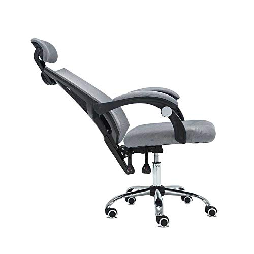(Swivel Chair QZ Home Swivel Chair Computer Household Breathable Mesh Staff Office Chair Human Body Engineering Rise Drop Chair (Color : Black+Gray))