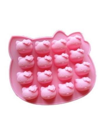 Alta calidad molde de silicona para tartas, diseño de Hello Kitty, para decoración de