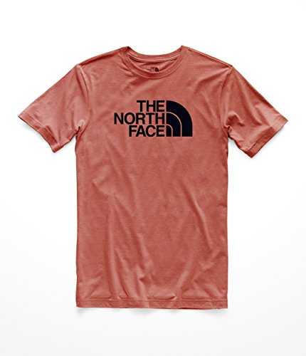 The North Face Men's S & S Half Dome Tri- Blend Tee - Faded Rose Heather & TNF Black - L ()