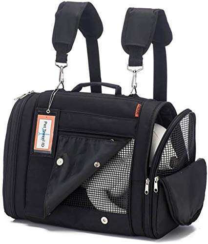 Prefer Pets Travel Gear 358BK Hideaway Duffle Pet Carrier, Medium
