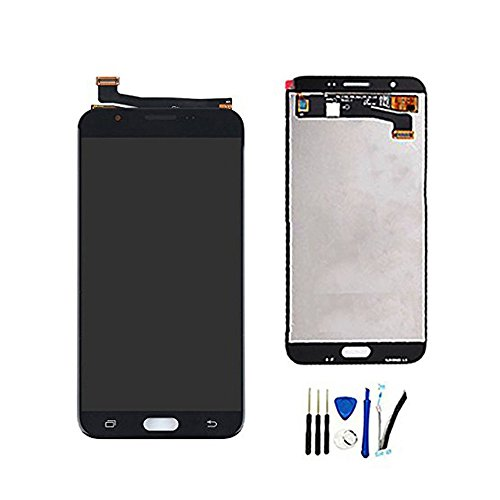 Full LCD Display With Digitizer Touch Screen For Galaxy J7 Prime 2017 SM-J727T1 & J7 2017 SM-J727 J727R4 J727V J727P SM-J727A & J7 Sky Pro & J7 Perx Assembly Replacement Black