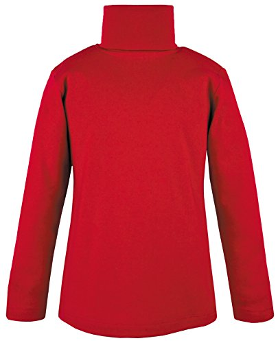 Lovetti Girls' Basic Long Sleeve Turtleneck 100% Cotton T-Shirt 4T Red by Lovetti (Image #4)