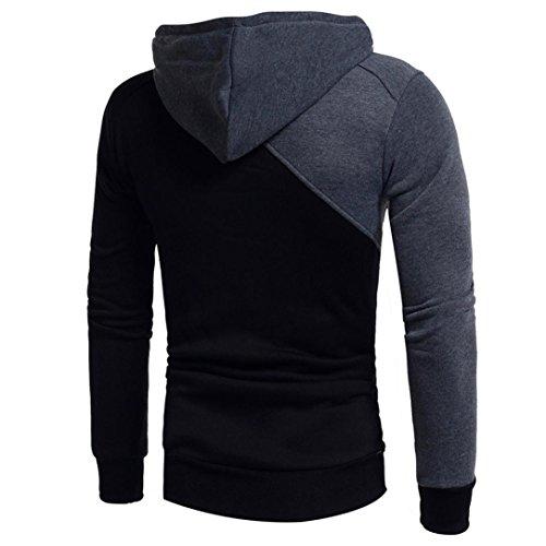 Avec Noir T Outwear Patchwork Hoodies Bleu Sportif Ciellte Rouge Chemise Homme Sports Grand Cordon Capuche Sweatshirts shirt Bicolore Poche Taille zFP4qnR