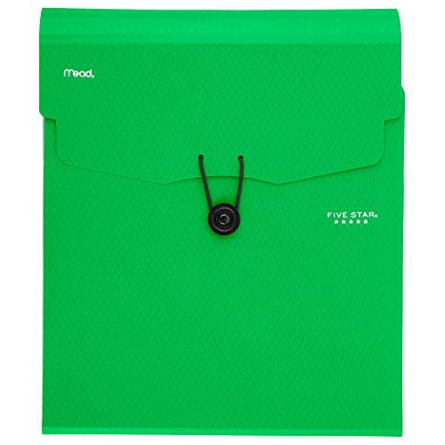 Five Star Expanding File Folder, 5-Pocket Vertical Expandable File Folder, Green (72695) ()