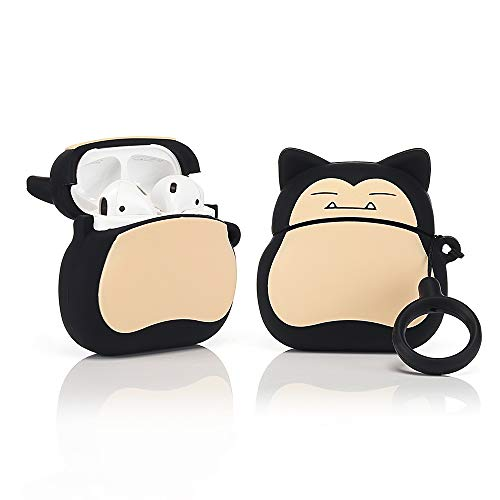 ZAHIUS Airpods Silicone Case Funny Cover Compatible for Apple Airpods 1&2 [Cartoon Pattern][Best Gift for Girl Boy](Snorlax)