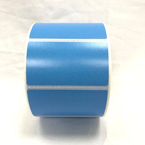 4 Rolls 2.25 x 1.25 Direct Thermal Labels BLUE 1000 Labels Per Roll Zebra / Eltron Printer Compatible 1