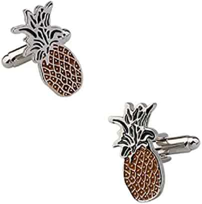Oakmont Cufflinks Pineapple Cufflinks Pineapples Cuff Links Contoured Edition