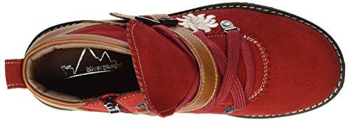 Hirschkogel Ladies 3002727 Stivali Rossi (rosso / Cognac)