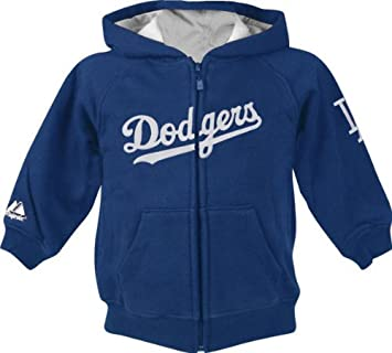 Amazon Com Majestic Los Angeles Dodgers Newborn Zip Front Hooded