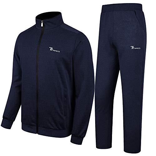 donhobo Herren Jogginganzug Trainingsanzug Sportanzug Fußball Sporthose Hoodie Hose für Gym Warm Tracksuit