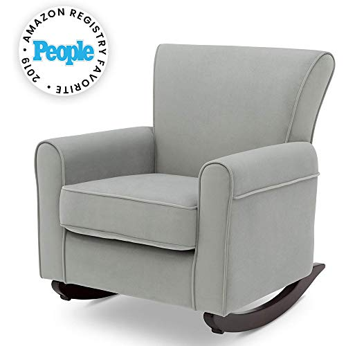 Delta Children Lancaster Rocking Chair Featuring Live Smart Fabric, Mist