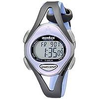 Timex T5E511 Ironman Sleek 50 Correa de resina de tamaño medio, púrpura /gris para mujer