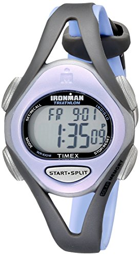 Timex Women's T5E511 Ironman Sleek 50 Mid-Size Purple/Gray Resin Strap Watch Timex