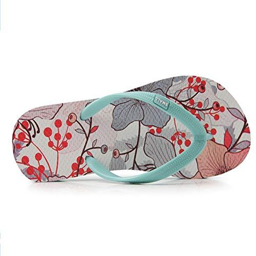 40 Légère Plage Women Couleur Antidérapante Flip 2 Wangcui Summer 3 Taille De EU Vert Vert Flops Chaussures nxzY7n08qW