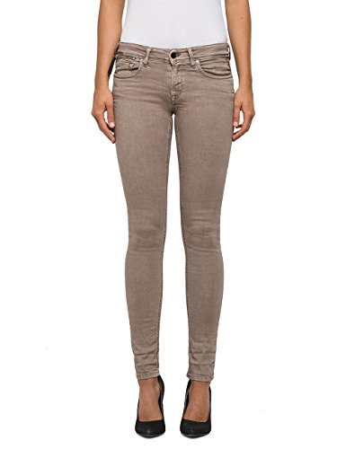 Replay Luz Coin Zip, Skinny Jeans Femme Marron (Nut 60)