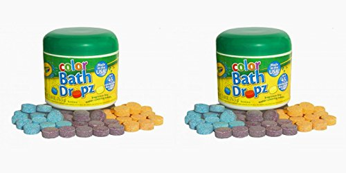 Crayola Bath Dropz 2.68 oz 45 Tablets (Pack of 2)