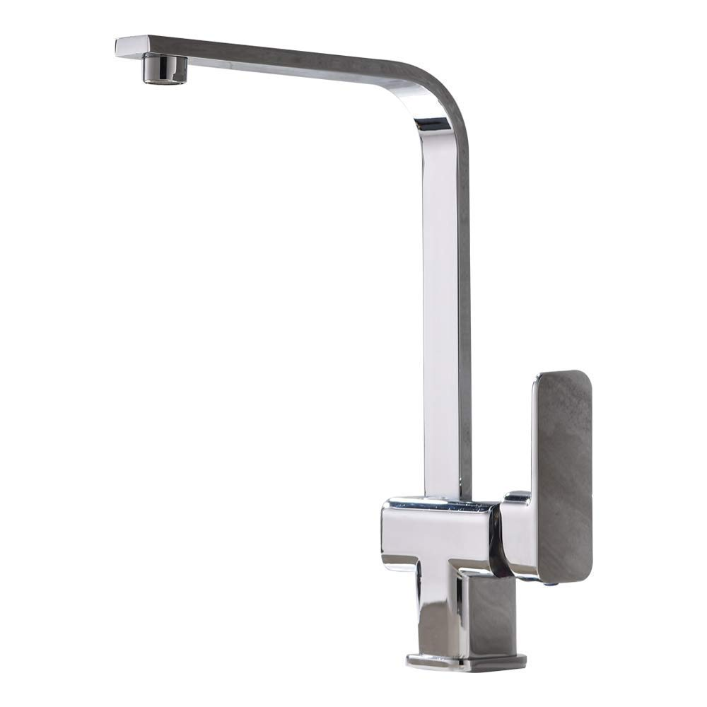 Tianch Kitchen Faucet, Square Hot and Cold Water Mixing Kitchen Faucet, 360° Rotatable Sink Faucet