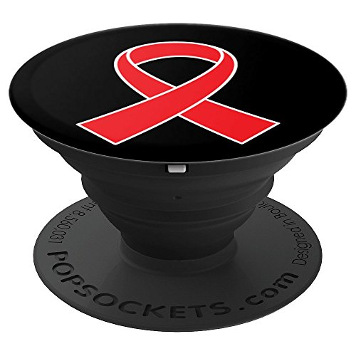 Heart Disease Awareness Heart Health Month Ribbon - PopSockets Grip and Stand for Phones and Tablets]()