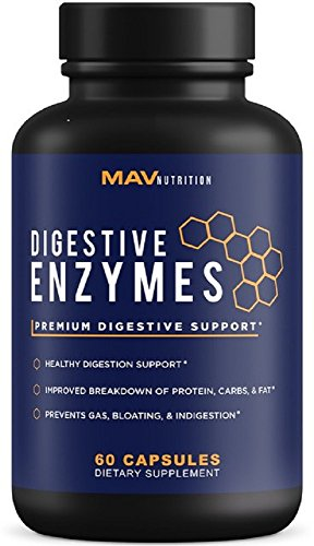 Premium Digestive Enzymes + Probiotics Supplement – All Natural – Stop Bloating & Flatulence With Protease Enzyme + Bromelain Supplements + Lactase Supplements – Better Digestion For Bloating