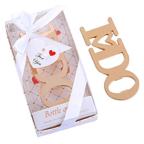 Yuokwer Pack of 24 Bridal Shower Party Favor for Guest Wedding Favor Bottle Opener Party Souvenir Return Gift Party Giveaway Gift for Guest Wedding Decoration Supplies,I DO Shape (White, 24) -