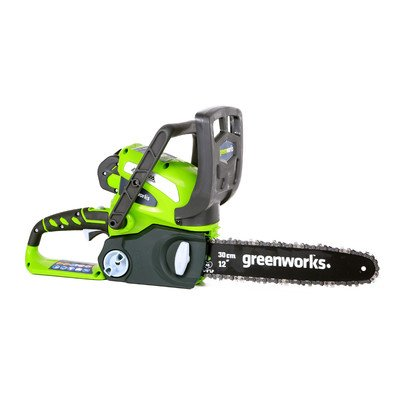 GMAX 12'' 40-Volt Cordless Chainsaw with 2AH Battery and Charger by Greenworks