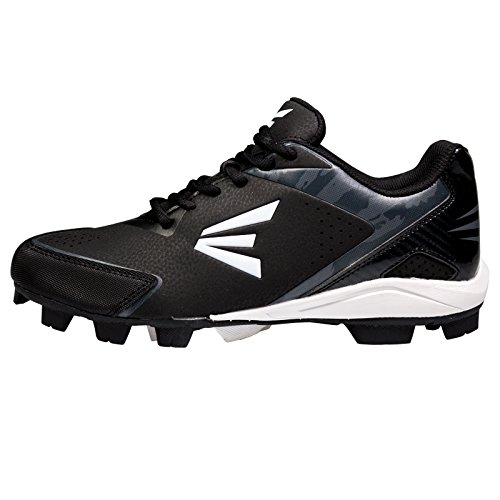 Image of Easton Youth 360 Instinct Rubber Low Baseball Cleats - Black/White/Charcoal Camo (1.5)