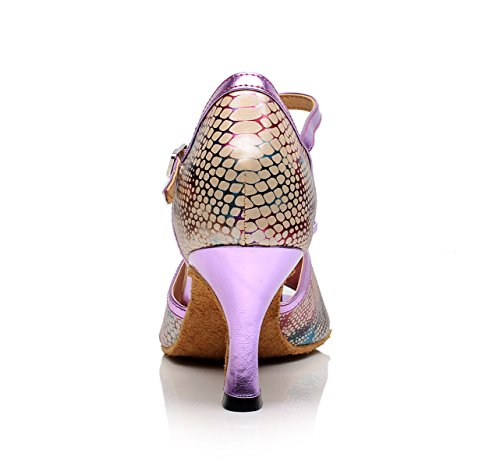 Para Tacones Baile Purple Latino Salsa Tango UK3 EU33 Zapatos heeled7 Jazz 5cm Altos De Mujer Moderno Sandalias JSHOE Our34 Samba Chacha qgSEIOww