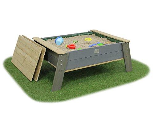 EXIT Aksent Sandtisch XL auf Füßen mit Deckel / Material: Nordisches Fichtenholz / Maße: 138 x 94 x 50 cm / Gewicht: 30 kg / ab 3 Jahre