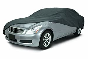 Classic Accessories 10-014-261001-00 OverDrive Polypro 3 Charcoal Full Size Sedan Car Cover