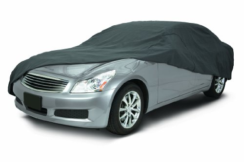 Classic Accessories 10-013-251001-00 OverDrive Polypro 3 Charcoal Mid Size Sedan Car Cover