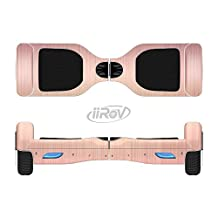 The Rose Gold Brushed Surface Full-Body Wrap Skin Kit for the iiRov HoverBoards and other Scooter (HOVERBOARD NOT INCLUDED)