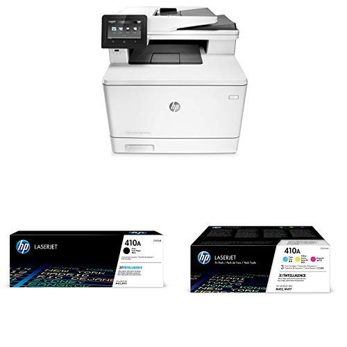 HP LaserJet Pro M477fdw Multifunction Wireless Color Laser Printer with  Duplex Printing (CF379A) with Standard Yield 4 Color Toner Cartridges