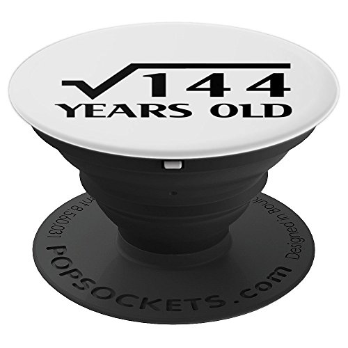 12th Happy Birthday Art 12 Years Old Square Root of 144 - PopSockets Grip and Stand for Phones and - 144 Square Holders