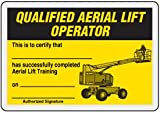 "Self-Laminating Plastic Qualified Aerial Lift Operator Card - 2-1/4"" x 3-1/4"""