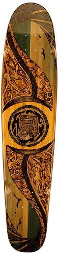 Bamboo Skateboards Hard Good Mirrored Sea Long Board, 42 x 9.25-Inch, Natural