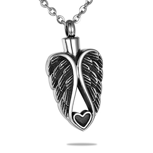 urn necklace angel wings - 7