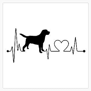 "Labrador Heartbeat Sticker Vinyl Waterproof Sticker Decal Car Laptop Wall Window Bumper Sticker 5"""