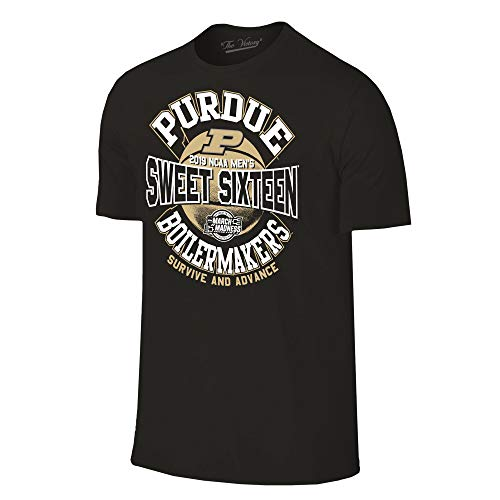 (Purdue Boilermakers 2019 Sweet 16 Basketball March Madness T-Shirt - Small - Black)