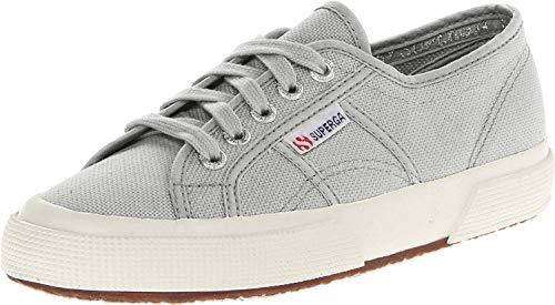 Superga unisex adult 2750 Cotu Classic Sneaker, Light Grey, 10 Women 8.5 Men US