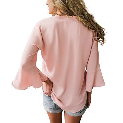 Liso Para Camisas Rosa Mucoo Mujer pa5FAcq