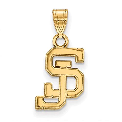 10k Yellow Gold LogoArt Official Licensed Collegiate San Jose State University (SJSU) Small Pendant