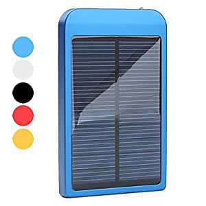 get Solar Powered and AC Charger for iPhone, iPod, Samsung Blackberry HTC Smartphones (Assorted Colors, 2600mAh) , Gold