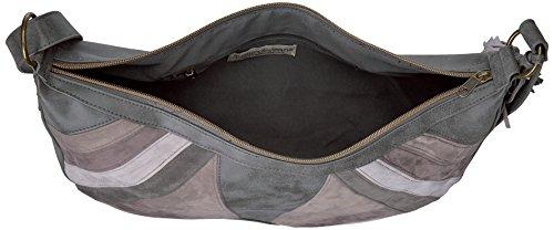 Hobo amp; Shirt Jeans Patchwork Grey T qwOAx6I5I