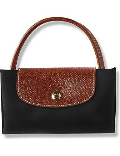 Longchamp Le Pliage - Bolso de mano (tamaño pequeño), color negro