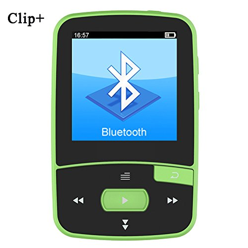 HONGYU RX50 8GB Clip Sport Bluetooth MP3 Player for Running with Clip+ MP3 FM Radio Record Lossless Sound Portable Music Player (Support up to 64GB- Green)