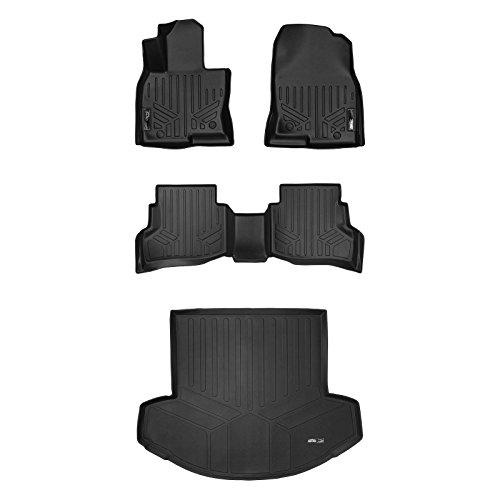 MAX LINER A0257/B0257/D0257 Custom Fit Floor Mats 2 Cargo Liner Behind 2nd Row Set Black for 2016-2019 Mazda CX-9