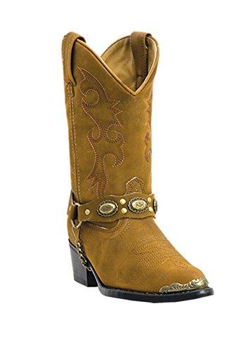 laredo concho harness boots brown - 4