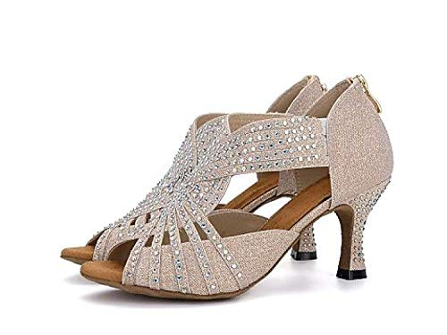 Goldheeled6 Chaussures samba De chaussures Yingsssq thé Eu35 5cm Doréheeled6 Talons Salsa modernes tango Sandales Danse Latine 5cm Hauts Femmes uk4 Our36 Jazz Pour d1wPzw